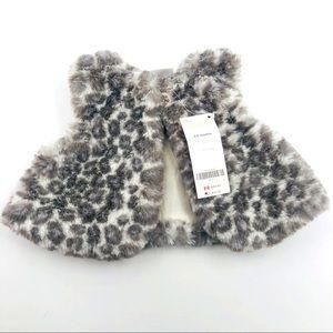 3/6 month NWT Gymboree Faux Fur Soft Vest